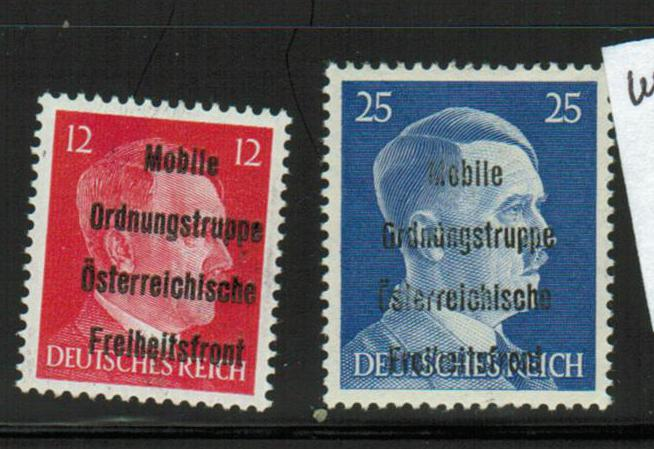 Lot #15 Austria post WW II local Issues Wein-Hernals 12, 25 pf ** VF expertized ANK cat value 440 Euro