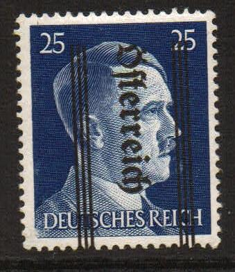 Lot #45 Austria: Scott#: 423 variety MI 692 k inverted overprint ** F/VF expertized