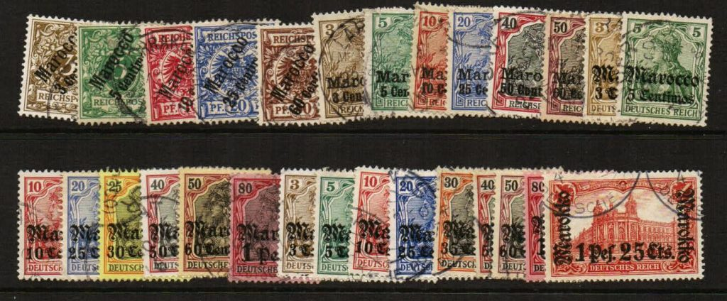 Lot #28 Offices in Morocco – all different selection of used stamps in F/VF condition – Catalog value over $300