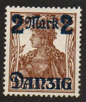Lot #43 Danzig MI 43 III** VF missing underprint variety