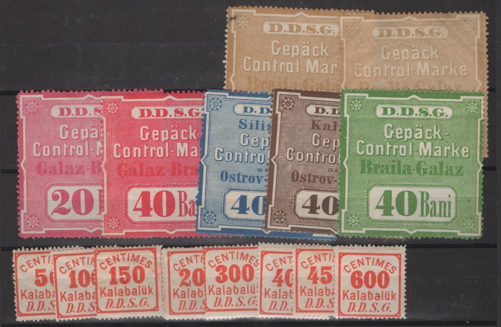 Lot #29 D. D. S. G revenue stamps mint hinged F/VF Scarce!