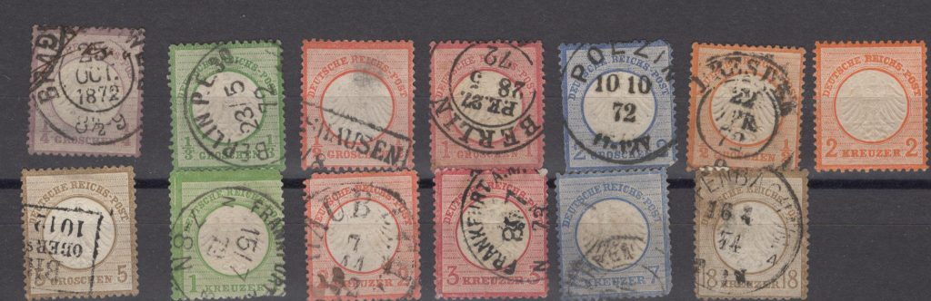 Lot #3 Germany Scott 1-11 plus 3a complete set – all appear very nic but most have faults (mostly thins) – catalog value is $860 -net $160