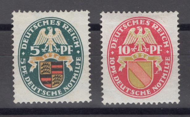 Lot # 14  Germany Scott B15-16 varieties Michel 398X and 399X * small HR F/VF catalog value 2100 Euro