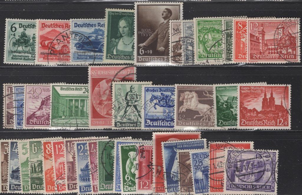 Lot#11 – Third Reich 1939-1941 selection of all complete sets used VF – catalog value $240+